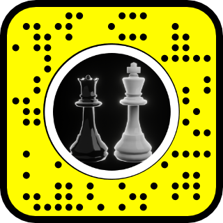 Snapcode for example lens with objects rotating around the head